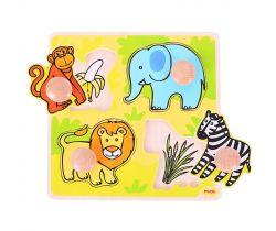 Vkladací puzzle Bigjigs Toys Safari 4 dieliky