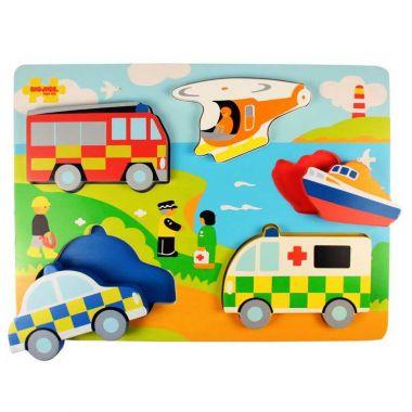 Vkladací puzzle Bigjigs Toys Záchranári