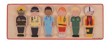 Vkladací puzzle Bigjigs Toys Záchranársky tým