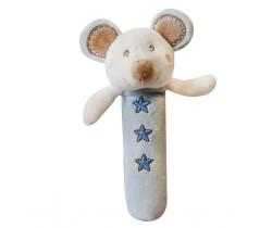 Bobas plyšové pískatko myška ZW 5A - modrá