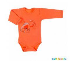 Body dlhý rukáv Ewa Klucze Dino Orange
