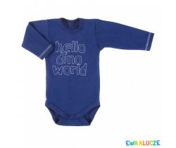 Body dlhý rukáv Ewa Klucze Hello Dino World Blue