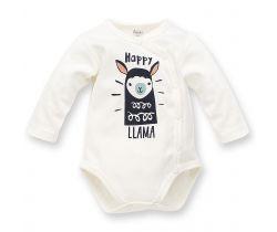 Body dlhý rukáv Pinokio Happy Llama Creme