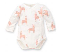 Body dlhý rukáv Pinokio Happy Llama Creme Pink