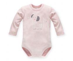 Body dlhý rukáv Pinokio Wild Animals Elephant Pink
