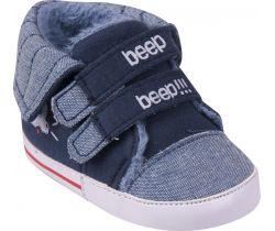 Topánočky so suchým zipsom Yo Beep Blue