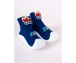 Topánočky Yo Blue Car 3D