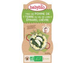 Zemiaky so špenátom, paštrnákom a kozím sýrom 2x200g Babybio