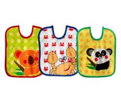 Podbradníčky Bobas 3 ks Zvieratká