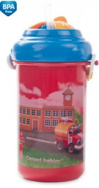 Canpol cestovná fľaška s víčkom a slámkou