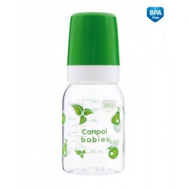 Canpol fľaša s jednobarevnou potlačou 120 ml bez BPA