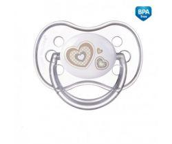 Canpol Newborn baby silikonový symetrický cumlík biely