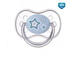 Canpol Newborn baby silikonový symetrický cumlík modrá