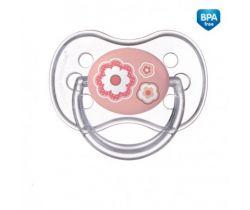 Canpol Newborn baby silikonový symetrický cumlík ružová