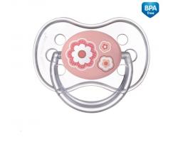 Canpol Newborn silikonový cumlík anatomický ružová