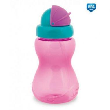 Canpol športová fľaša so slamkou malá