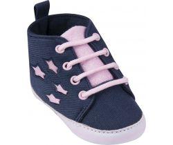 Topánočky s šnúrkami Yo Blue-Pink Stars