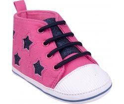 Topánočky s šnúrkami Yo Pink-Black Stars