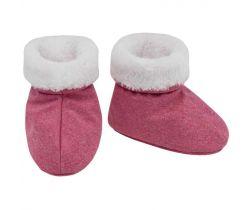 Topánočky softshell s kožušinkou Esito Melír Ružová/Biela