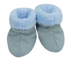 Capačky softshell s kožušinkou Esito Sivá/Modrá
