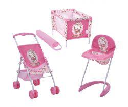 Cestovný set pre bábiky Hauck Toys Hello Kitty