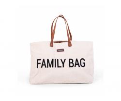 Cestovná taška Childhome family Bag Teddy Off White