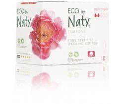 Dámske ECO tampóny Naty - regular (18 ks)
