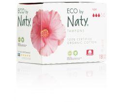 Dámské ECO tampóny Naty - super (18 ks)