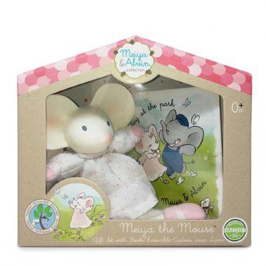 Darčekový set knižka + hračka Meiya & Alvin