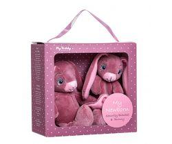 Darčekový set My Teddy Newborn collection Môj malý zajačik a muchláček