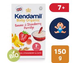 Detská banánovo-jahodová kaša 150 g Kendamil Organic Bio