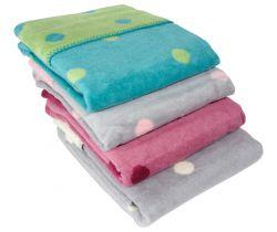 Detská deka 75x100 cm ByBoom Bavlnený fleece so vzorom