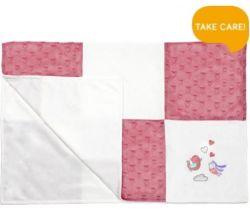 Detská deka Minky BabyOno Pink Birds