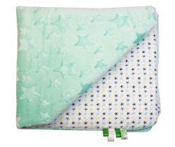 Detská deka minky LittleUp Menthol Stars