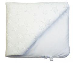 Detská deka minky LittleUp White Stars