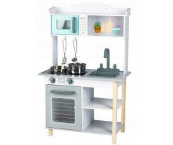 Detská drevená kuchynka EcoToys Grey