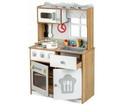 Detská drevená kuchynka s oknom EcoToys