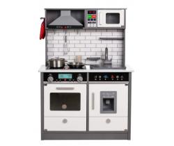 Detská dřevěná kuchynka Wooden Toys Interactive Grey