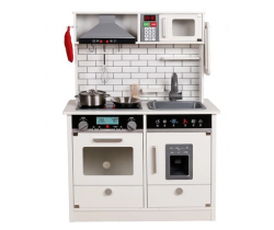 Detská dřevěná kuchynka Wooden Toys Interactive White