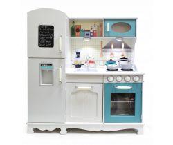 Detská drevená kuchynka Wooden Toys Interactive XXL Blue