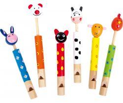 Detská drevená píšťalka 1ks Small Foot Zvieratká