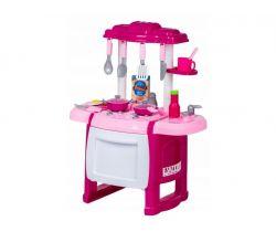 Detská kuchynka so zvukmi a rúrou EcoToys Pink