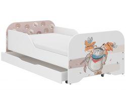 Detská posteľ so zásuvkou Wooden Toys Miki Bear