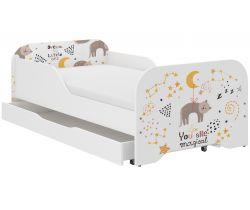 Detská posteľ so zásuvkou Wooden Toys Miki Cat
