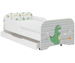 Detská posteľ so zásuvkou Wooden Toys Miki Dino
