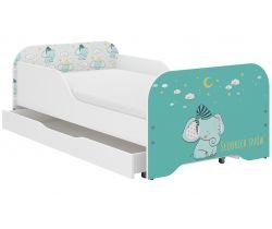 Detská posteľ so zásuvkou Wooden Toys Miki Elephant