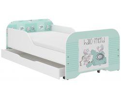 Detská posteľ so zásuvkou Wooden Toys Miki Friends