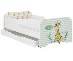 Detská posteľ so zásuvkou Wooden Toys Miki Giraffe