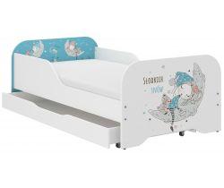 Detská posteľ so zásuvkou Wooden Toys Miki Sleepyhead