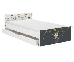 Detská posteľ so zásuvkou Wooden Toys Pufi Badger